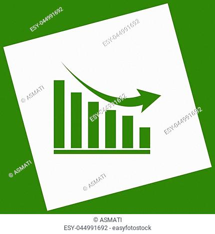 Graph Decline Result Stock Photos And Images Age Fotostock
