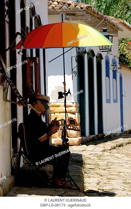 People, man, craft, Historical Center, City, Paraty, Brazil