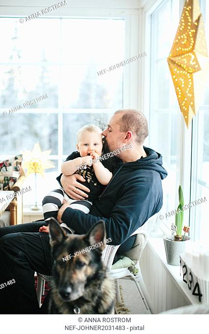 Father with baby boy