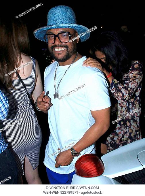 apl.de.ap parties at Warwick nightclub in Hollywood Featuring: Allan Pineda Lindo, apl.de.ap Where: Los Angeles, California