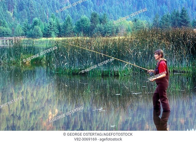 Fishing at Potter's Pond, Little Pend Oreille National Wildlife Refuge, Washington