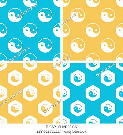 Ying yang pattern set, colored
