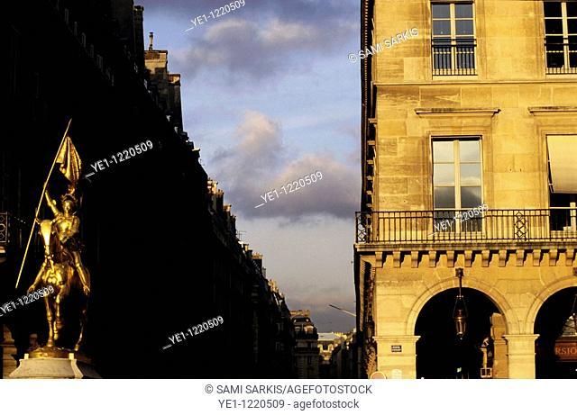 Joan of Arc statue on the Place des Pyramides, Paris, France