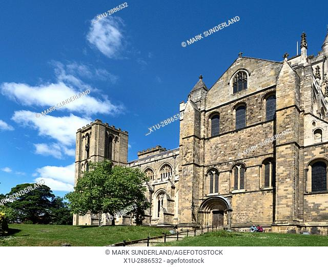 Ripon Cathedral in Summer Ripon North Yorkshire England