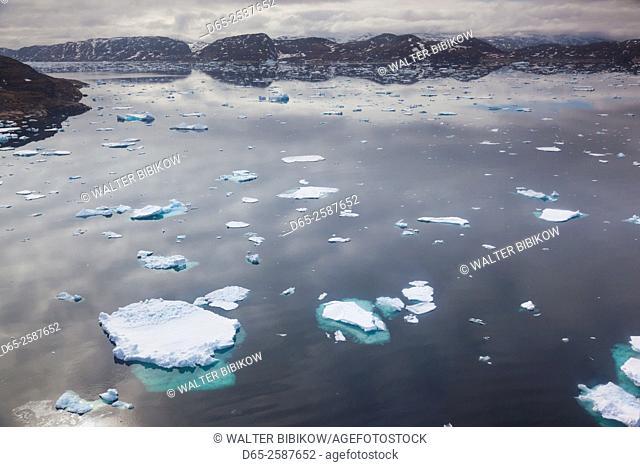 Greenland, Qaqortoq, floating ice