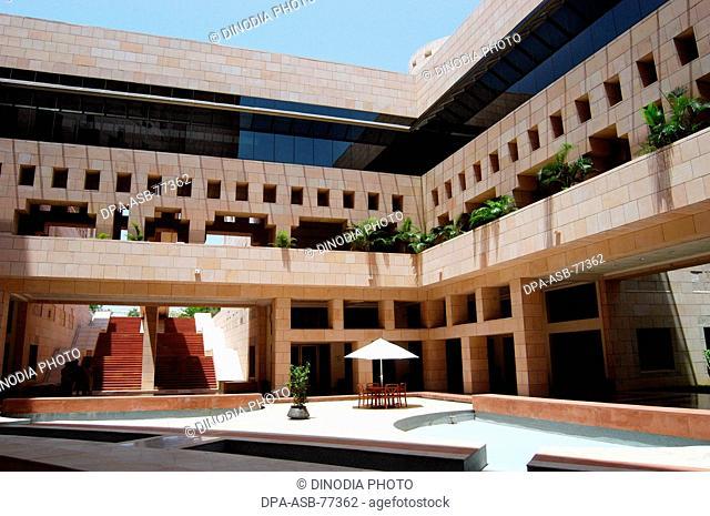 Interiors of Indian School of Business building in Hyderabad ; Andhra Pradesh ; India