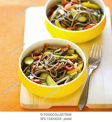 Cold Soba Salad with Crisp Vegetables