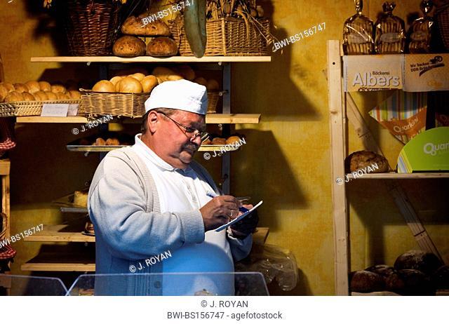 Old fashion baker, Germany, Saxony