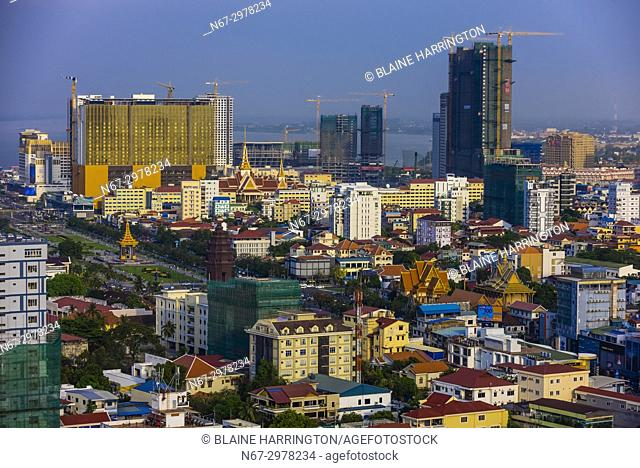 Panoramic skyline of Phnom Penh, Cambodia