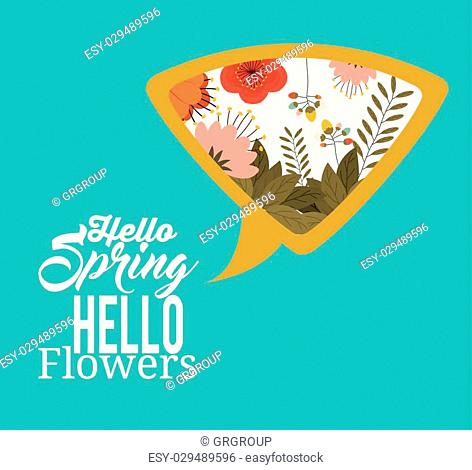 hello spring design, vector illustration eps10 graphic