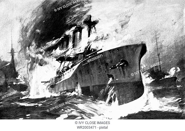 In World War I, German cruisers were known to go down firing to the last. In the naval battle off Heligoland (August 28, 1914 - the first naval battle of World...