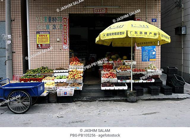 A fruit shop Guangzhou, China September 2009