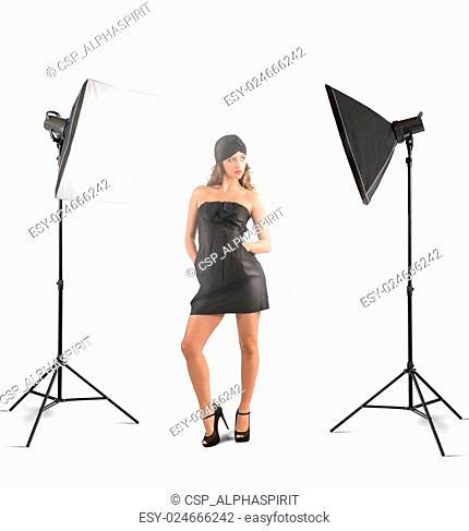 Girl photo studio