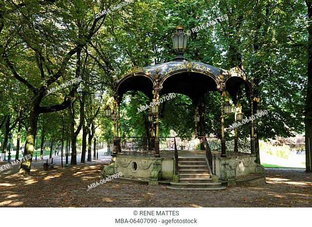 France, Meurthe et Moselle, Nancy, Parc of the Pepiniere, the bandstand
