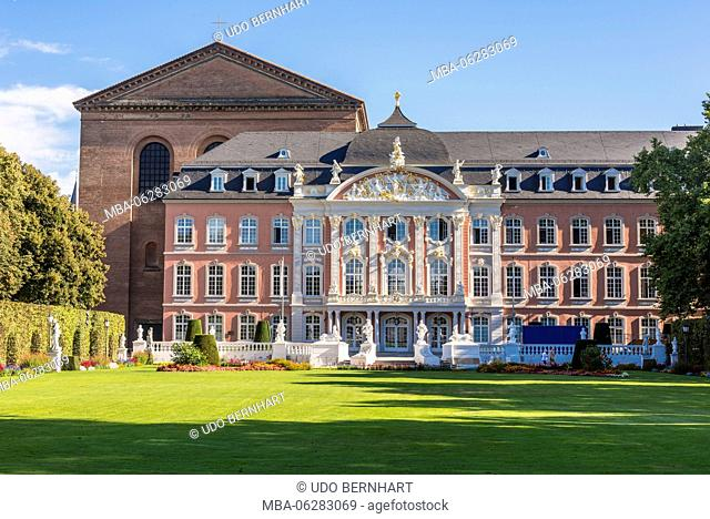 Europe, Germany, Rhineland-Palatinate, the Moselle, Moselle valley, Trier, Old Town, historical city centre, electoral palace, palace garden
