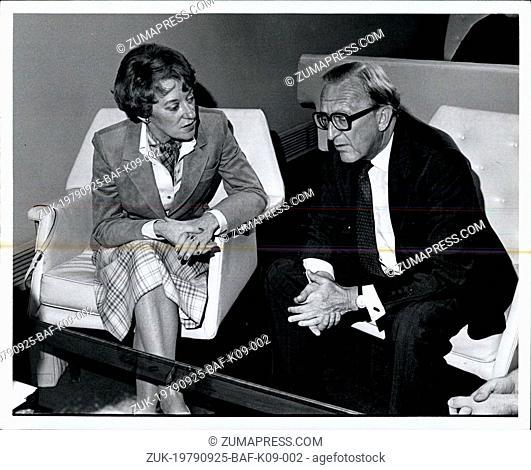 Sep. 25, 1979 - Lord Carrington & Canadian Foreign Min. Flora MacDonald (Credit Image: © Keystone Press Agency/Keystone USA via ZUMAPRESS.com)