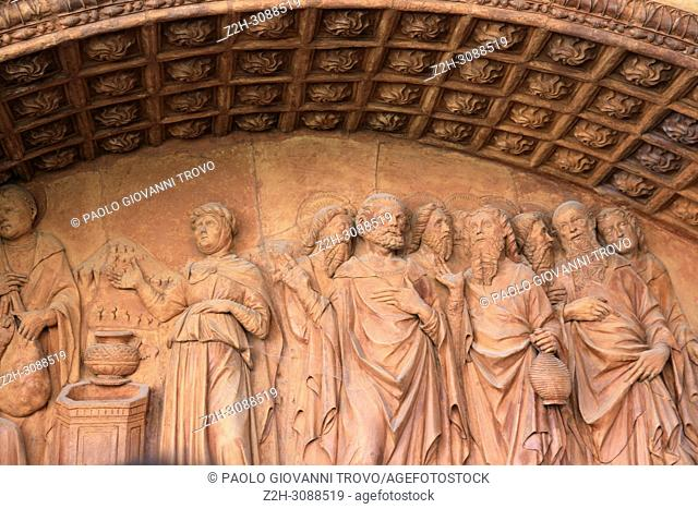 Certosa di Pavia area and Carthusian Monastery inside area detail, Pavia, Lombardy, Italy