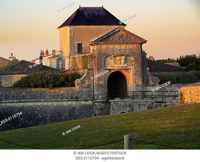 Porte des Campani, Saint-Martin-de-Re, Ile de Re, Charente-Maritime Department, Nouvelle Aquitaine, France