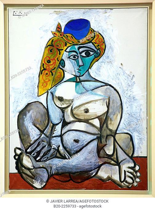 Femme nue au bonnet turc, 1955. Pablo Picasso. Centre George Pompidou. Musee National d'Art Moderne. Paris. France