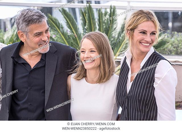 69th Cannes Film Festival - 'Money Monster' - Photocall Featuring: George Clooney, Jodie Foster, Julia Roberts Where: Cannes