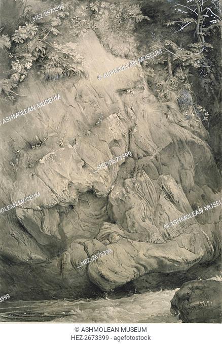 Study of Gneiss Rock, Glenfinlas, July 1853-February 1854. Artist: John Ruskin