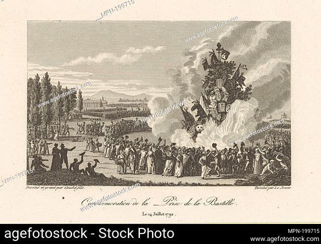 Commémoration de la Prise de la Bastille. Couché, François-Louis, 1782-1849 (Engraver) Lejeune, Baptiste, 1739-1812 (Engraver) Couché, François-Louis