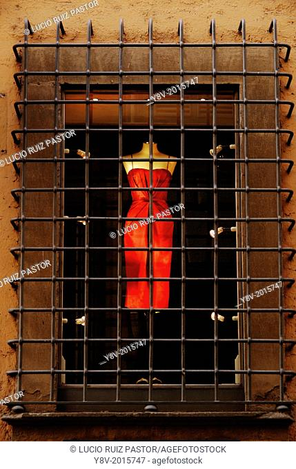 Italy. Lacio. Rome. High fashion shop windows