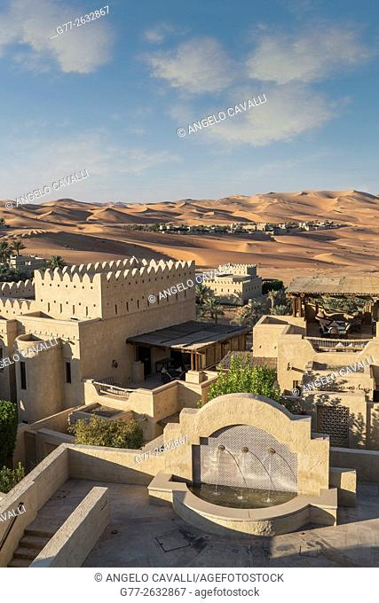 The Luxury resort Qasr Al Sarab, of the Anantara group, empty quarter desert, Abu Dhabi, United Arab Emirates