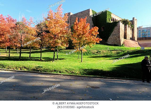 Castell-Cartoixa (castle charterhouse). Parc de Vallparadís, Terrassa, Barcelona Province, Catalonia, Spain