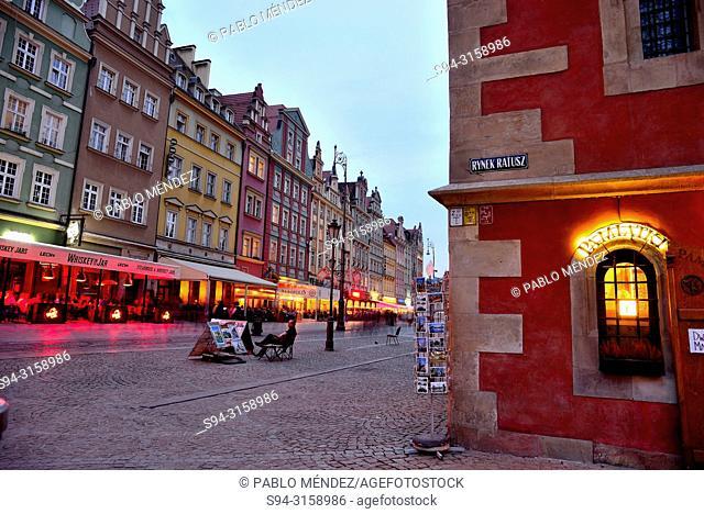 """Market square or Rynek in Wroclaw """"""""Breslau"""""""", Poland"""