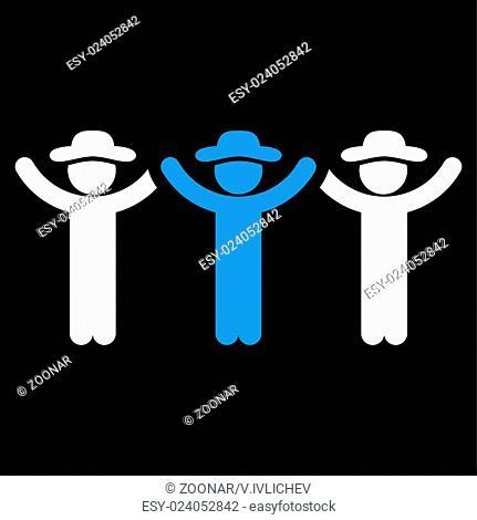 Guys Hands Up Roundelay Icon