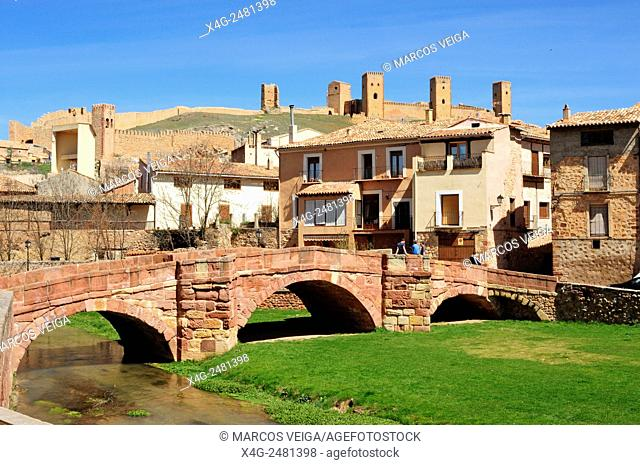 Molina de Aragon. Bridge and Castle. Spain