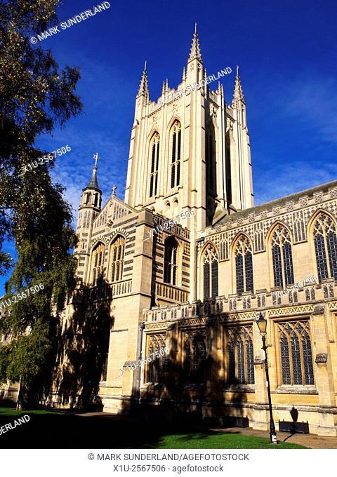 St Edmundsbury Cathedral in Bury St Edmunds Suffolk England