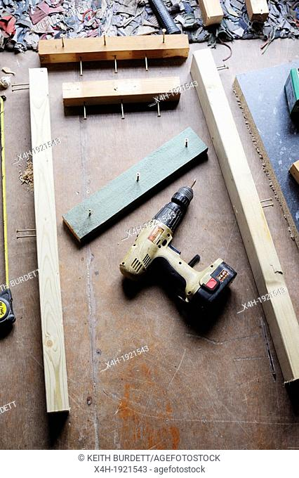 Timber and tools assembled for DIY tasks