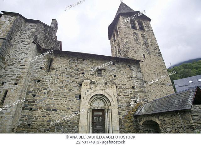 Romanesque church San Pedro in Escunhau village Aran valley Lleida Catalunya Spain