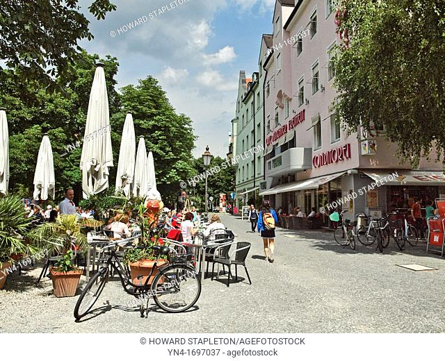 Münchner Freiheit meaning Munich liberty or Munich freedom is a busy town square in the Schwabing district of Munich near the famous English garden  Shown here...