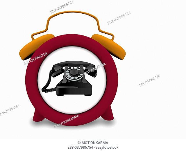 telephone works as clock alarm