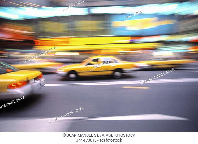 Yellow cabs, New York City, USA