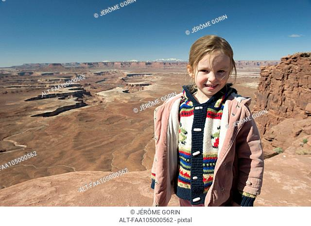 Girl at Canyonlands National Park in Utah, USA