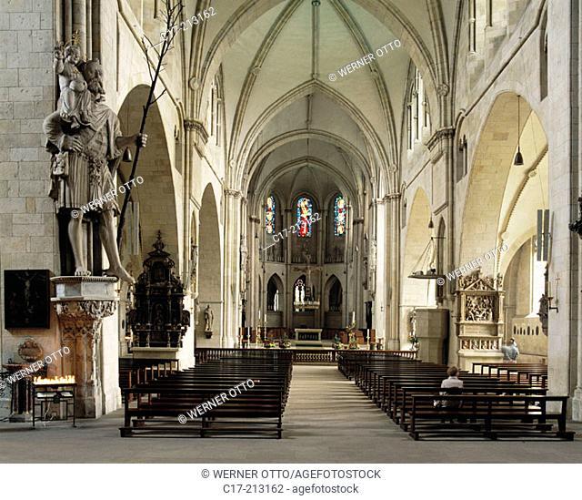 Germany, Münster, North Rhine-Westphalia, St. Paul Cathedral, interior view