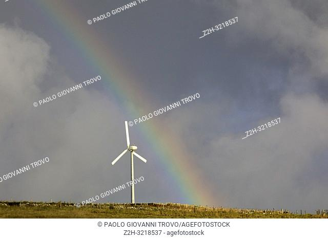 Wind turbine, Orkney, Scotland, Highlands, United Kingdom