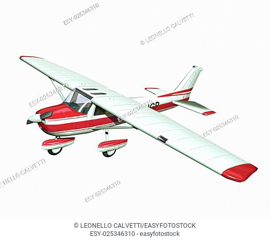 small airplane on white background