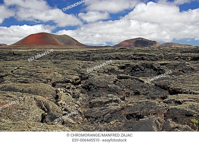 Volcanic landscape, Lanzarote, Spain