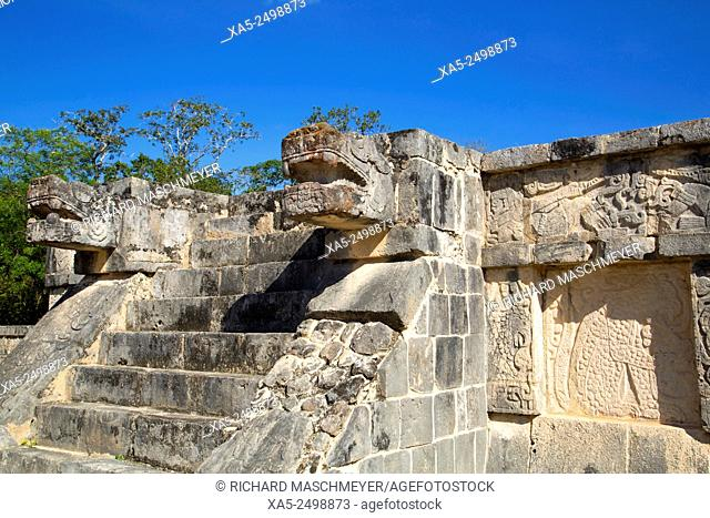 Platform of the Eagles and Jaguars, Chichen Itza, Yucatan, Mexico