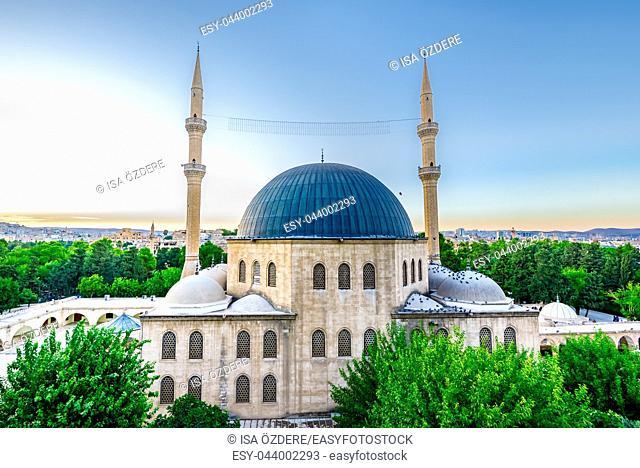 View of Mevlidi Halil Mosque,one of landmarks in Sanliurfa,Turkey. 18 July 2018