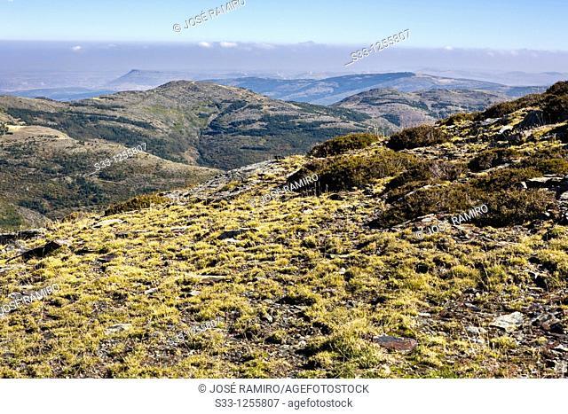 Valdebecerril hills in Sierra Norte Guadalajara Castilla la Mancha Spain