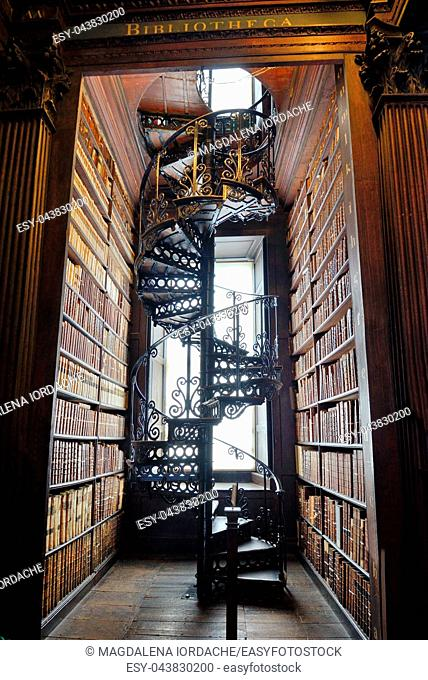 The Long Room in The Old Library, Trinity College, Dublin, Ireland - The Book of Kells 17. 06, 2018