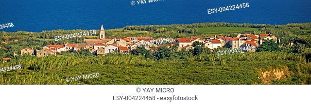 Mediterranean village on Island of Susak, Croatia