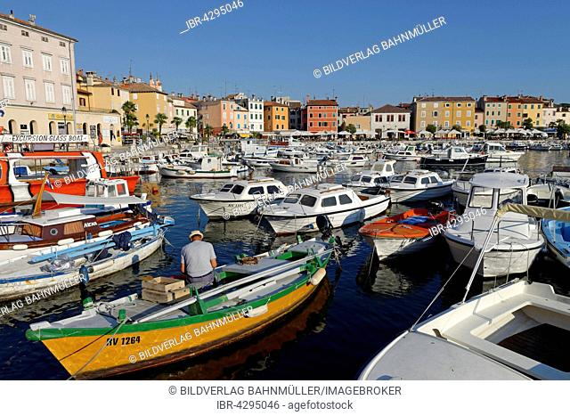 Port of Rovinj, historic centre, Istria, Croatia