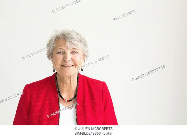 Portrait of smiling older Caucasian woman